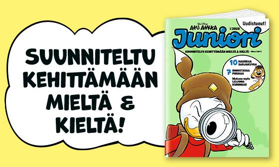 Lehti kerran kuussa - Aku Ankka Juniori