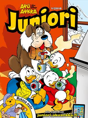 Aku Ankka Juniori -lehden kansikuva